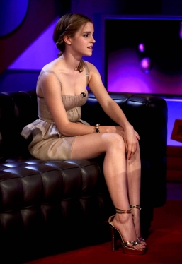 EDITORIAL USE ONLY / NO MERCHANDISING Mandatory Credit: Photo by Brian J. Ritchie / Rex Features ( 955742a ) Emma Watson 'Friday Night with Jonathan Ross', TV Series, London, Britain - 03 Jul 2009 Jonathan Ross