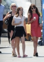 "9 April 02012 - Lynwood - USA ACTRESS EMMA WATSON FILMING ""THE BLING RING"" AT THE WOMEN'S CORRECTIONAL FACILITY IN LYNWOOD CA. THE SCENE IS SET AS EMMA'S CHARACTER CHECKS IN THE FACILITY AFTER BEING CAUGHT ROBBING CELEBRITY HOMES. EMMA WATSON IS JOINED BY CO STAR LESLIE MANN WHO PLAYS HER MOTHER IN THE FILM. BYLINE MUST READ : XPOSUREPHOTOS.COM ***UK CLIENTS - PICTURES CONTAINING CHILDREN PLEASE PIXELATE FACE PRIOR TO PUBLICATION *** CLIENTS MUST CALL PRIOR TO TV OR ONLINE USAGE PLEASE TELEPHONE 020 7377 2770"