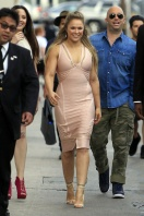 139487, Ronda Rousey seen leaving the sets of at Jimmy Kimmel Live in Los Angeles. Los Angeles, California - Wednesday, July 01, 2015. Photograph: © JGonzalez, PacificCoastNews. Los Angeles Office: +1 310.822.0419 sales@pacificcoastnews.com FEE MUST BE AGREED PRIOR TO USAGE