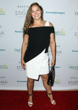 Ronda Rousey arrives at the 20th Anniversary Erasing the Stigma Leadership Awards